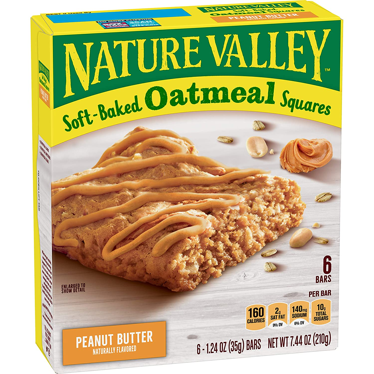Nature Valley Soft-Baked Oatmeal Squares Peanut Butter, 7.44 oz