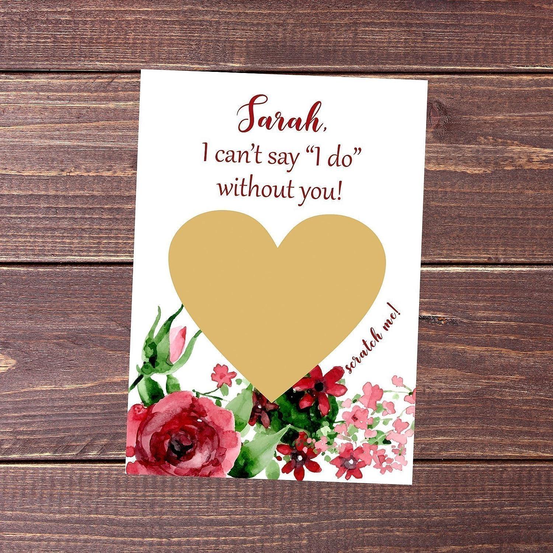 Bridesmaid proposal Will you be my bridesmaid card