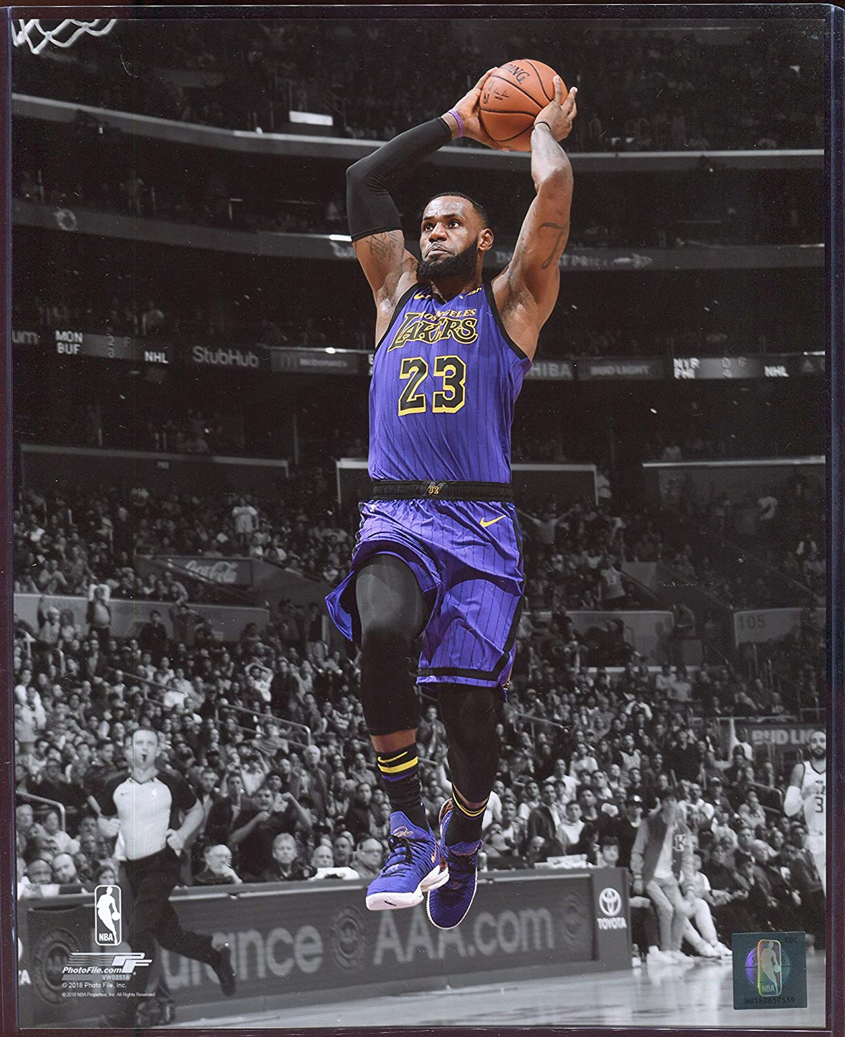 c7becbe96343e Officially Licensed LeBron James Los Angeles Lakers Spotlight Dunk ...