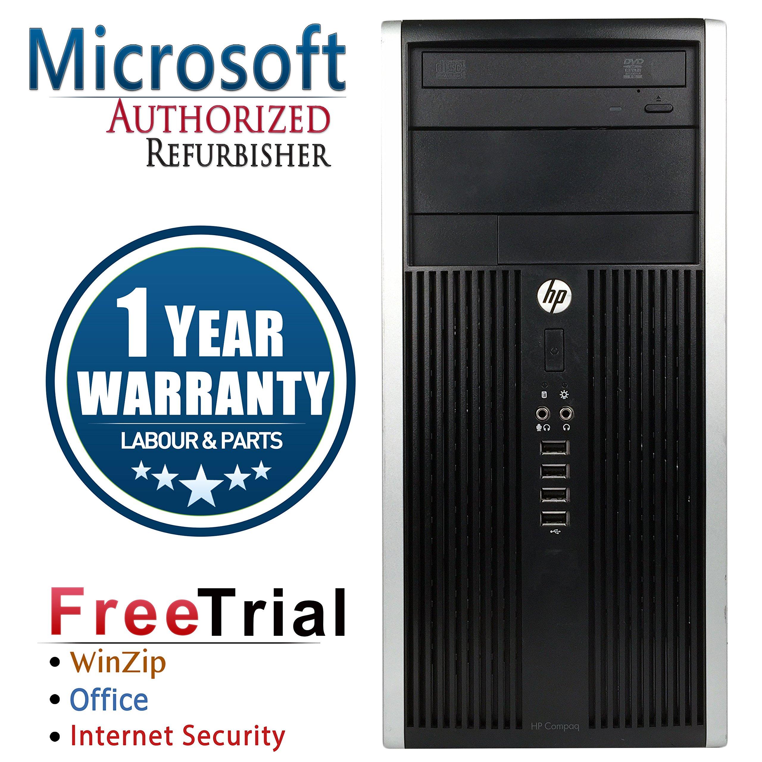 HP 6200 Pro Mini Tower Intel i3-2100 3.1GHz 4GB RAM 320GB HDD Win 10 Home DVD-RW (Certified Refurbished)