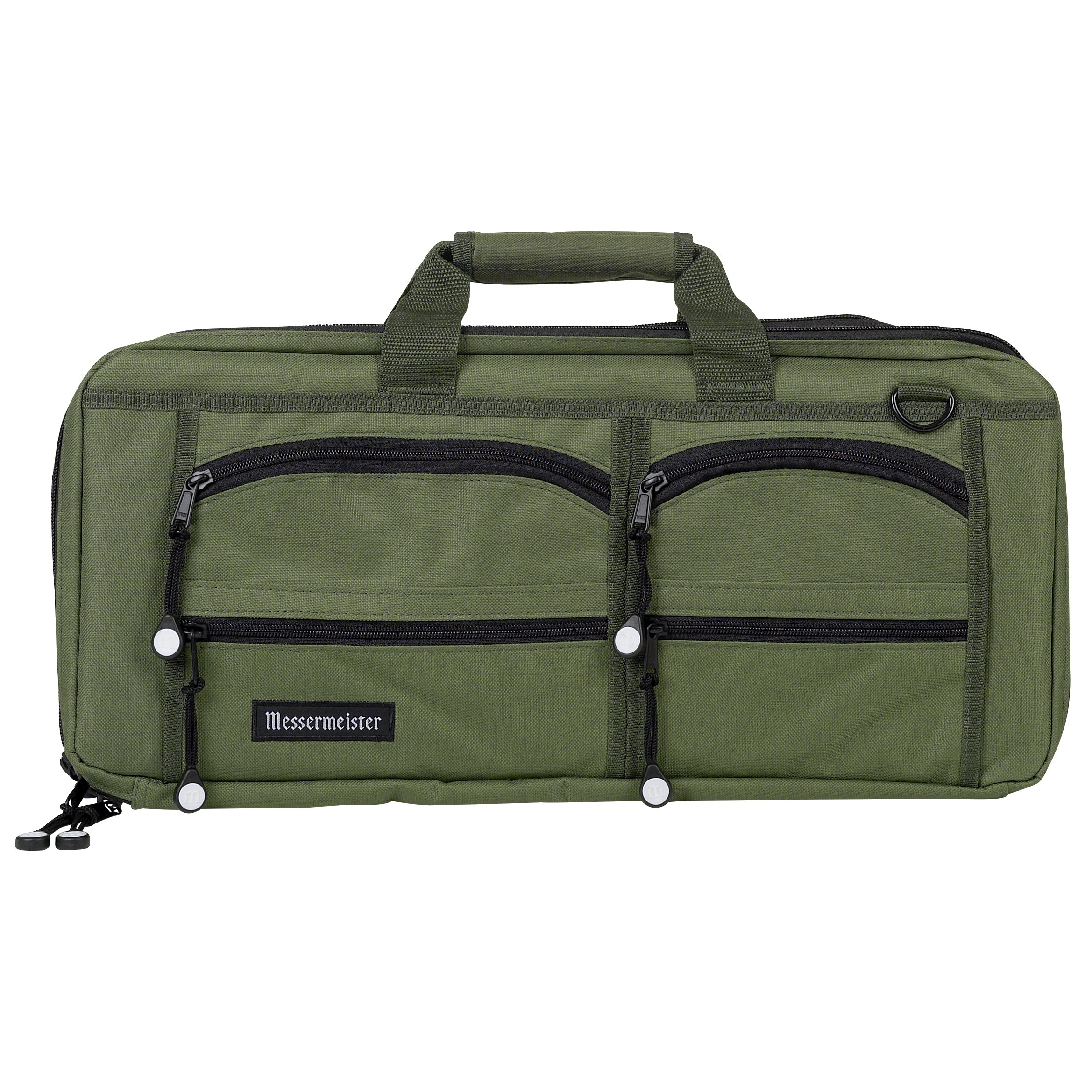 Messermeister 18-Pocket Heavy Duty Meister Chef Knife Bag, Luggage Grade and Water Resistant, Olive