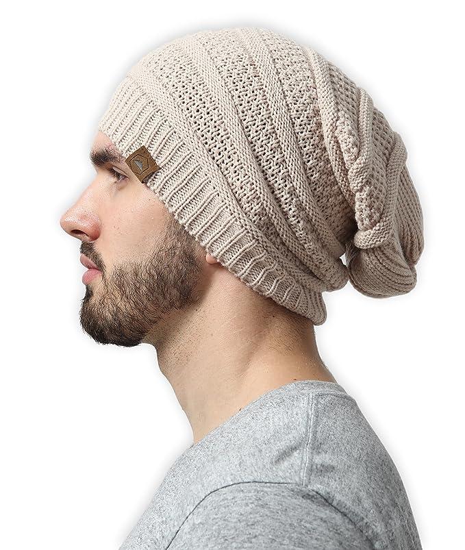 db1cd4acd6a Amazon.com  Slouchy Cable Knit Beanie - Chunky