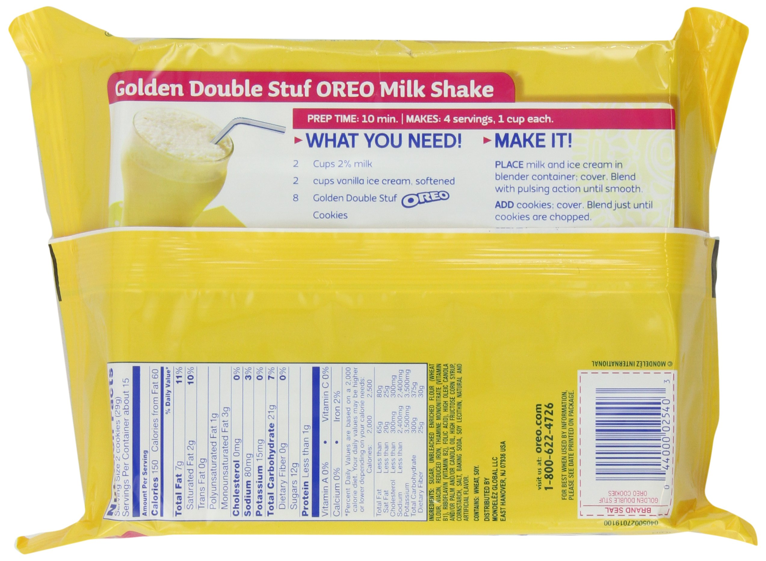 Oreo Golden Double Stuf Sandwich Cookies, Original, 15.25-Ounce (Pack of 6) by Oreo (Image #1)