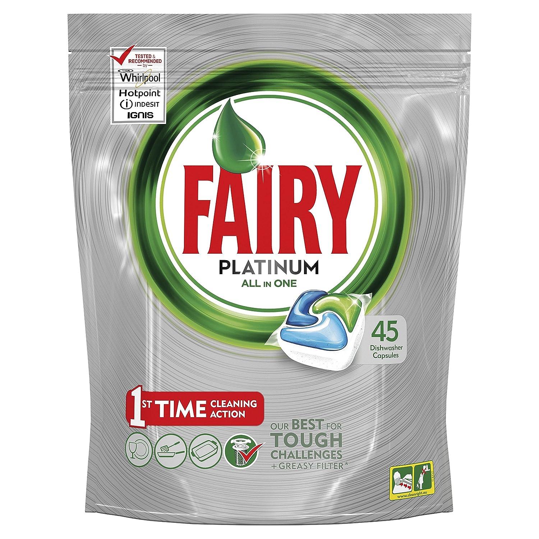 Fairy Platinum Detersivo in Pastiglie per Lavastoviglie, Confezione da 125 Caps (25x5), Limone Procter & Gamble 81654355