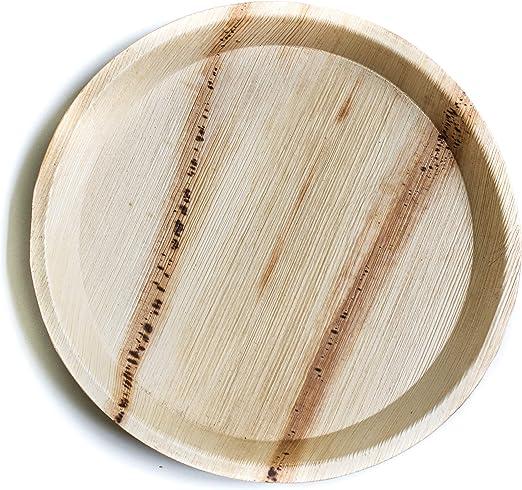 Vajilla de palma desechable de alta calidad con platos redondos de ...