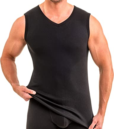 HERMKO 16058 Camiseta para Gimnasio, para Hombre, Algodón/Modal, Doble nervadura: Amazon.es: Ropa y accesorios