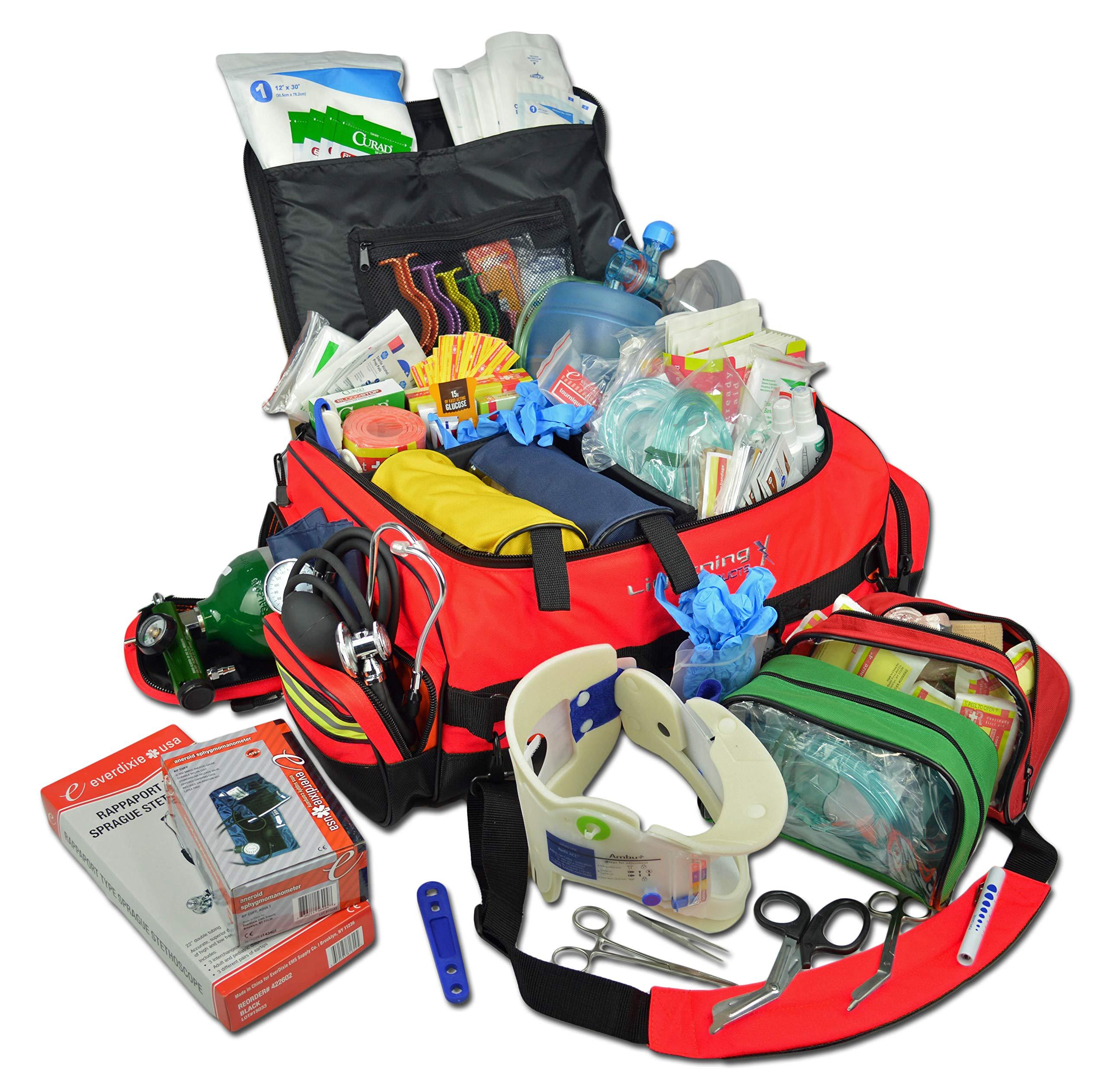 Lightning X Jumbo Medic First Responder EMT Trauma Bag Stocked First Aid Trauma Fill Kit D