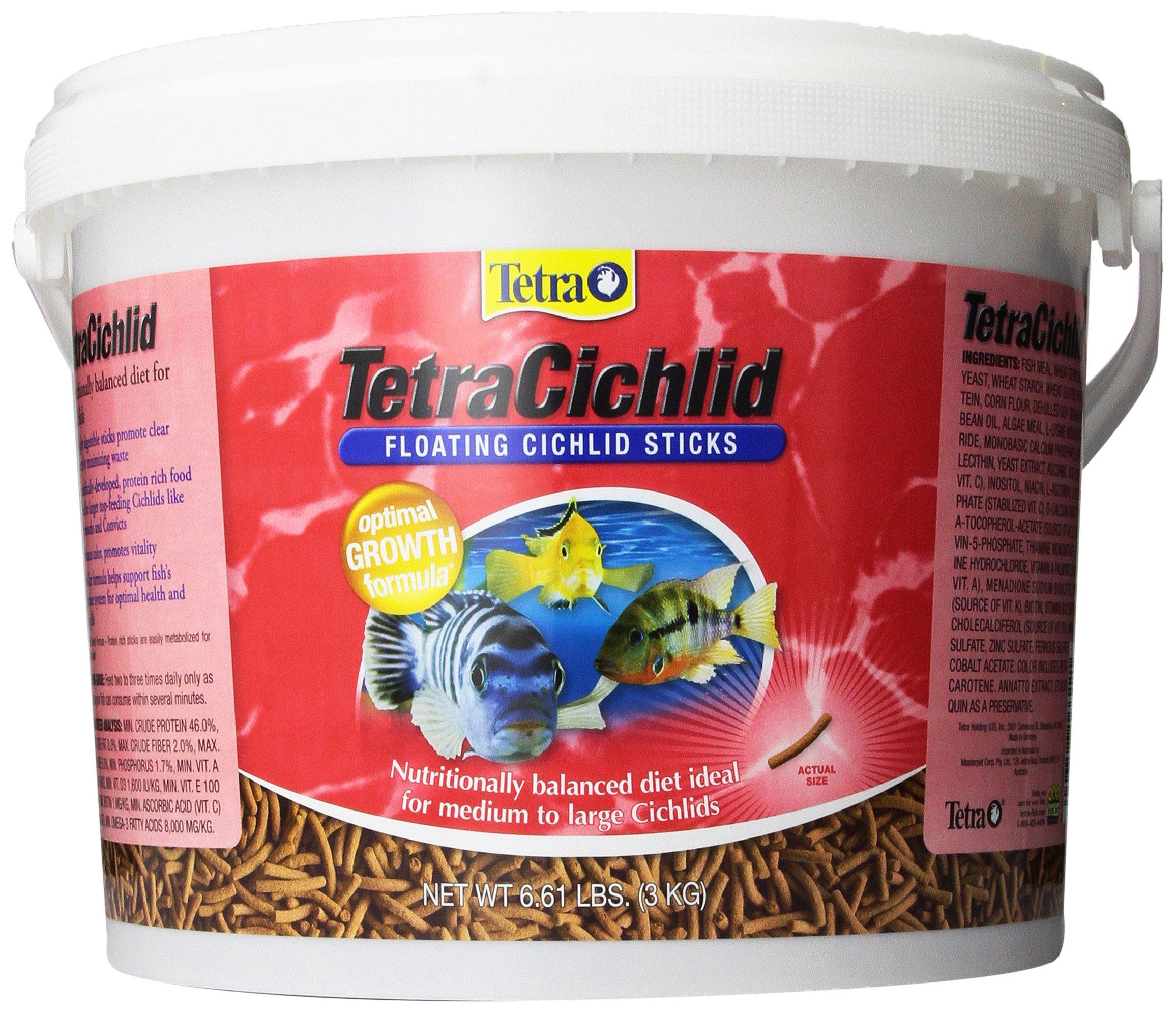 TetraCichlid Floating Cichlid Sticks, Pond Fish Food, Nutritionally Balanced by Tetra