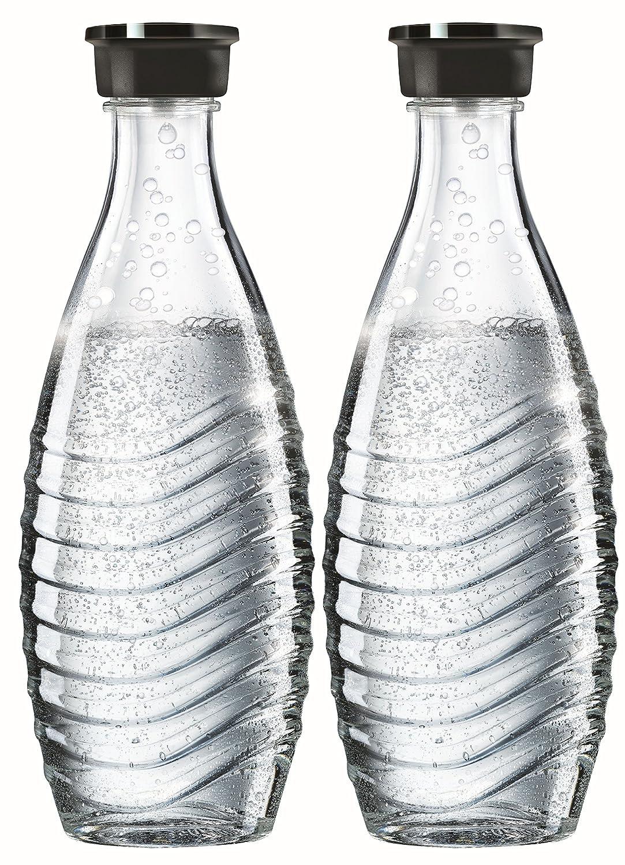 SodaStream, 2 Bottiglie in vetro, Trasparenti, Compatibili con Gasatore Crystal, 9.5 x 9.5 x 28.5 cm 1047200490