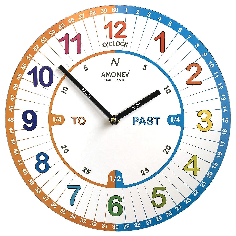 Amazon.de: Amonev-Time-Teacher-VS1-Kinder-Wanduhr - um zu lernen die ...