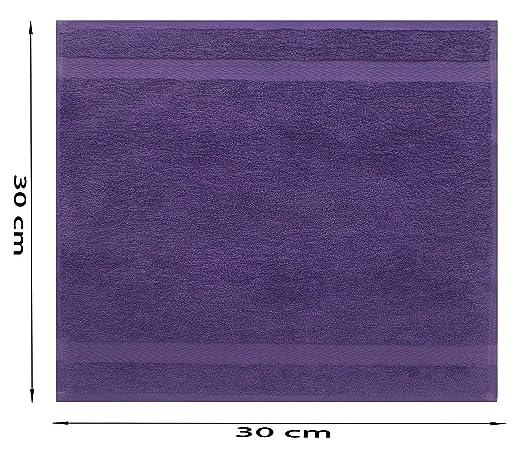 Betz 10 St/ück Seift/ücher Premium 100/% Baumwolle Seiflappen Set 30x30 cm Farbe Altrosa und dunkelrot