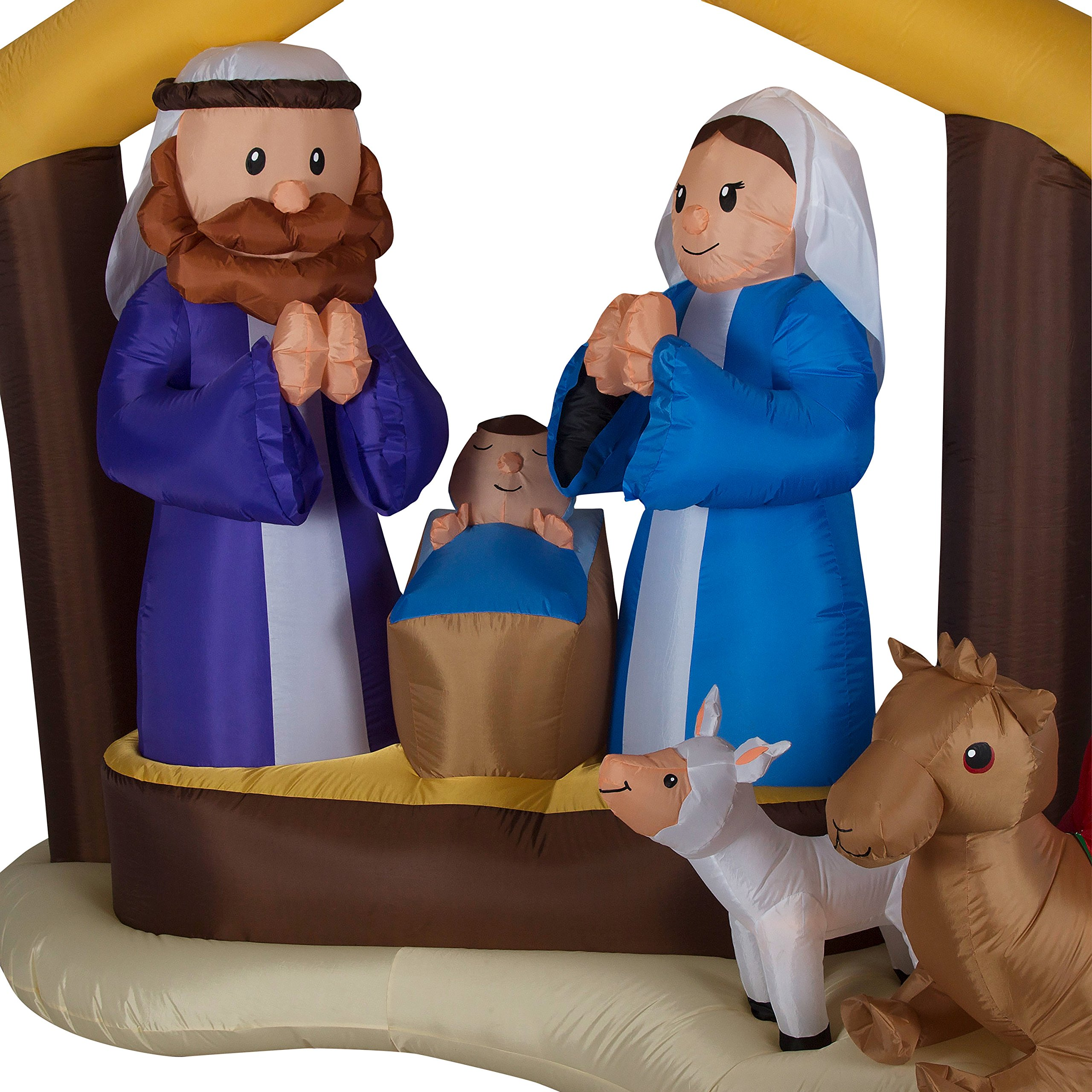 LightShow Airblown Inflatable Kaleidoscope Nativity Scene Outdoor Decoration by Gemmy (Image #2)