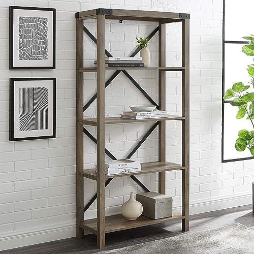 64″ Farmhouse Metal Bookcase