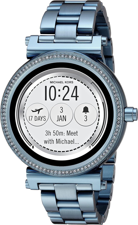 Michael Kors Access Women's 'Sofie Touchscreen' Quartz Stainless Steel Casual Watch, Color:Blue (Model: MKT5042)