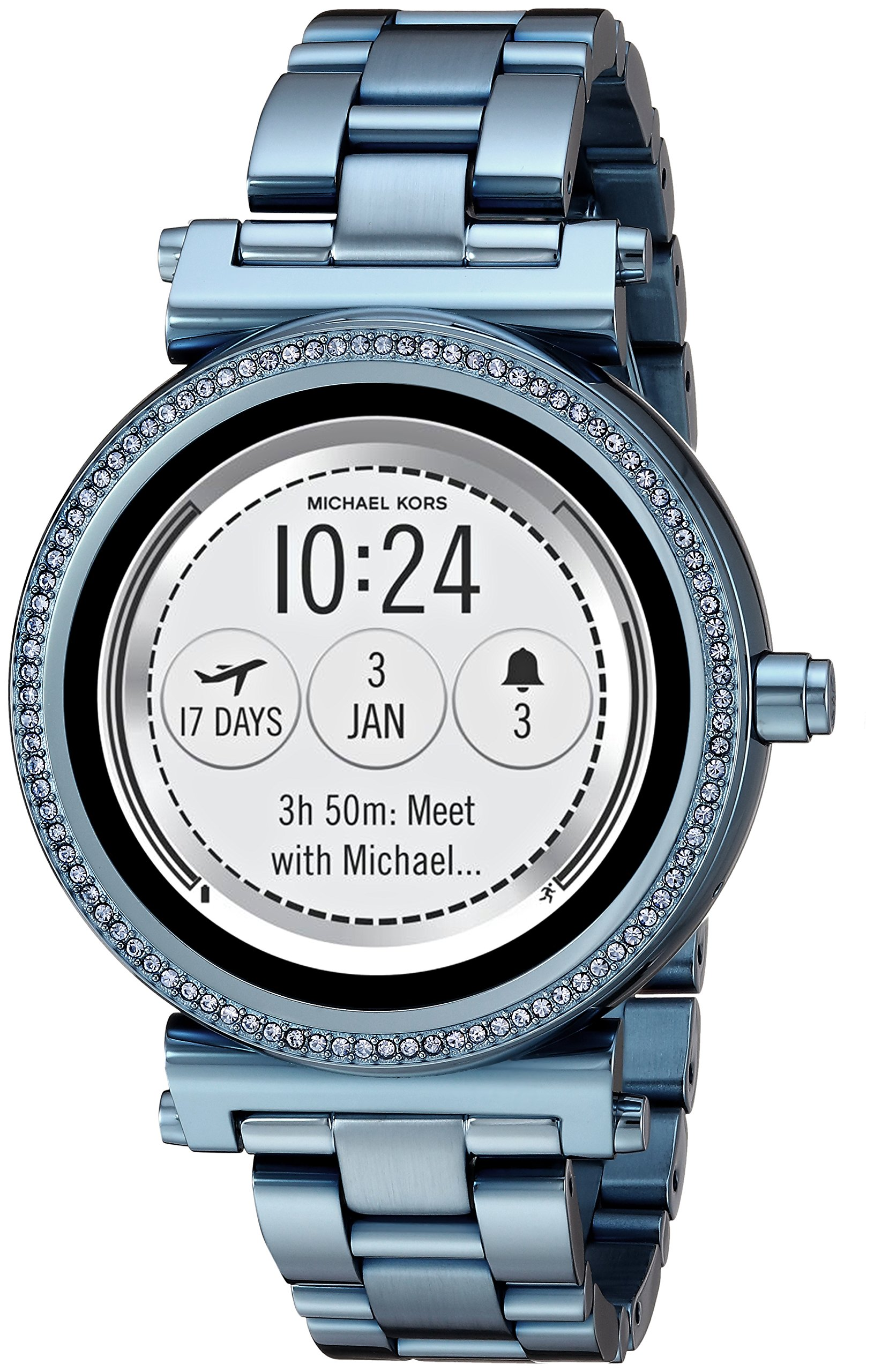 Michael Kors Access Women's 'Sofie Touchscreen' Quartz Stainless Steel Casual Watch, Color:Blue (Model: MKT5042) by Michael Kors
