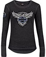 Harley-Davidson 115th Anniversary Women's Thermal Long Sleeve - Camp leatherneck | Wing Emblem
