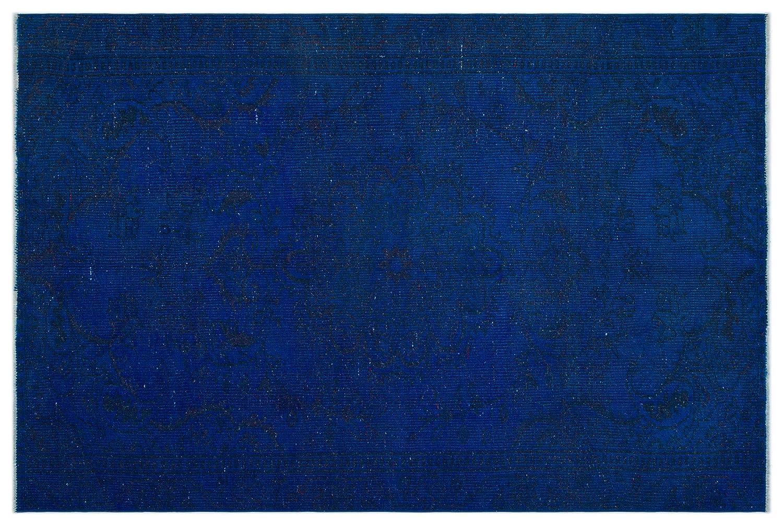 Bespoky ビンテージ 手織 ラグ 青 ミディアムサイズ 162 X 242 Cm B07HNDRQYV