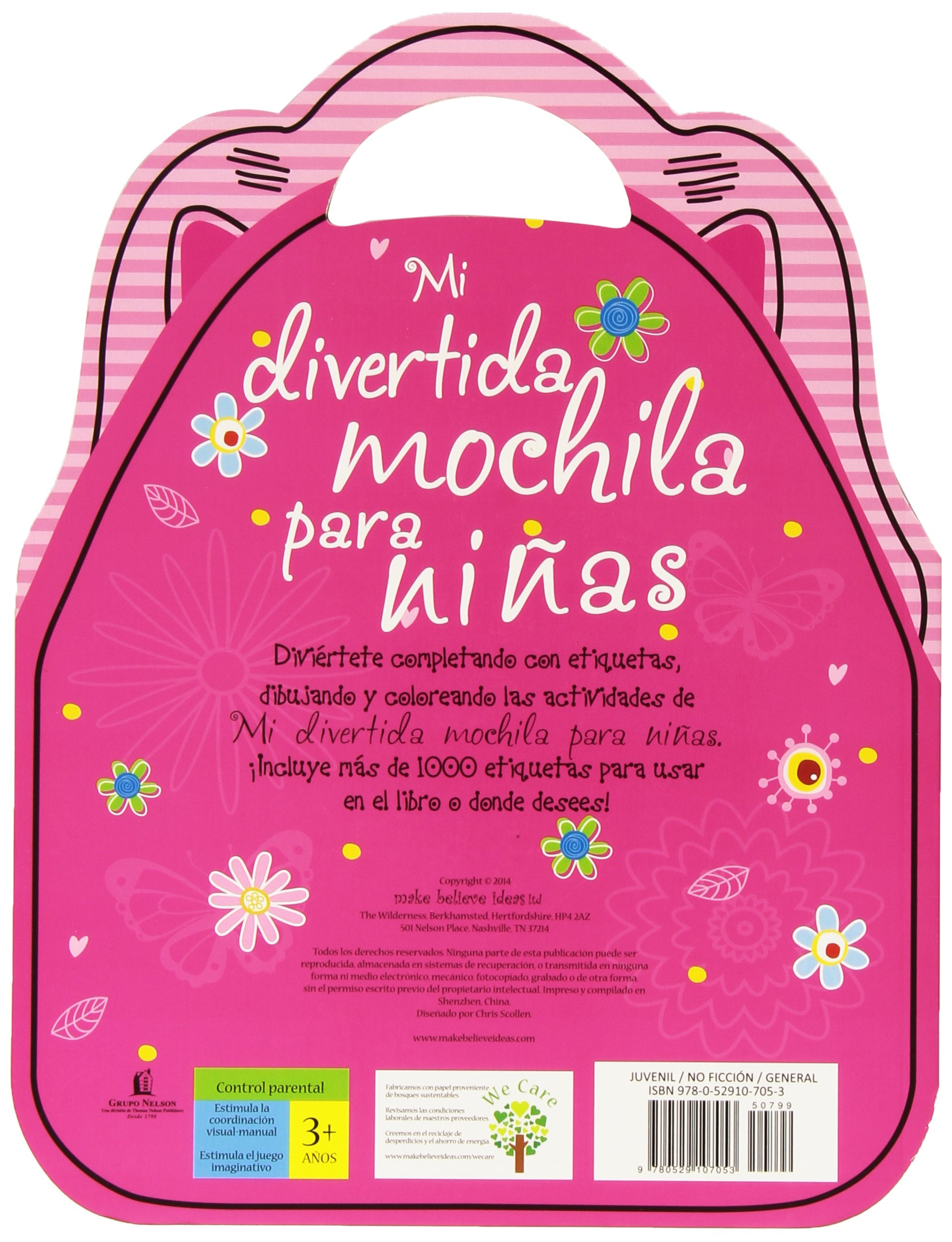 Mi divertida mochila para niñas (Spanish Edition): Thomas Nelson: 9780529107053: Amazon.com: Books