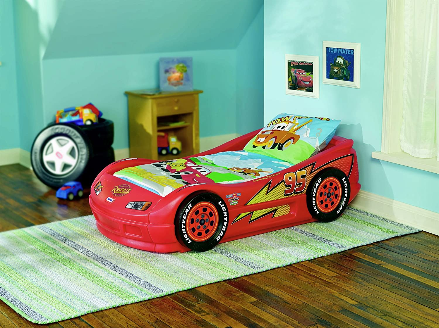 Little tikes lightning mcqueen toddler bed - Amazon Com Little Tikes Lightning Mcqueen Roadster Toddler Bed Toys Games