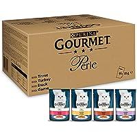 Purina Gourmet Minifiletes, Comida húmeda para Gatos en gelatina, 96 bolsitas de Comida húmeda para Gatos, variedades…