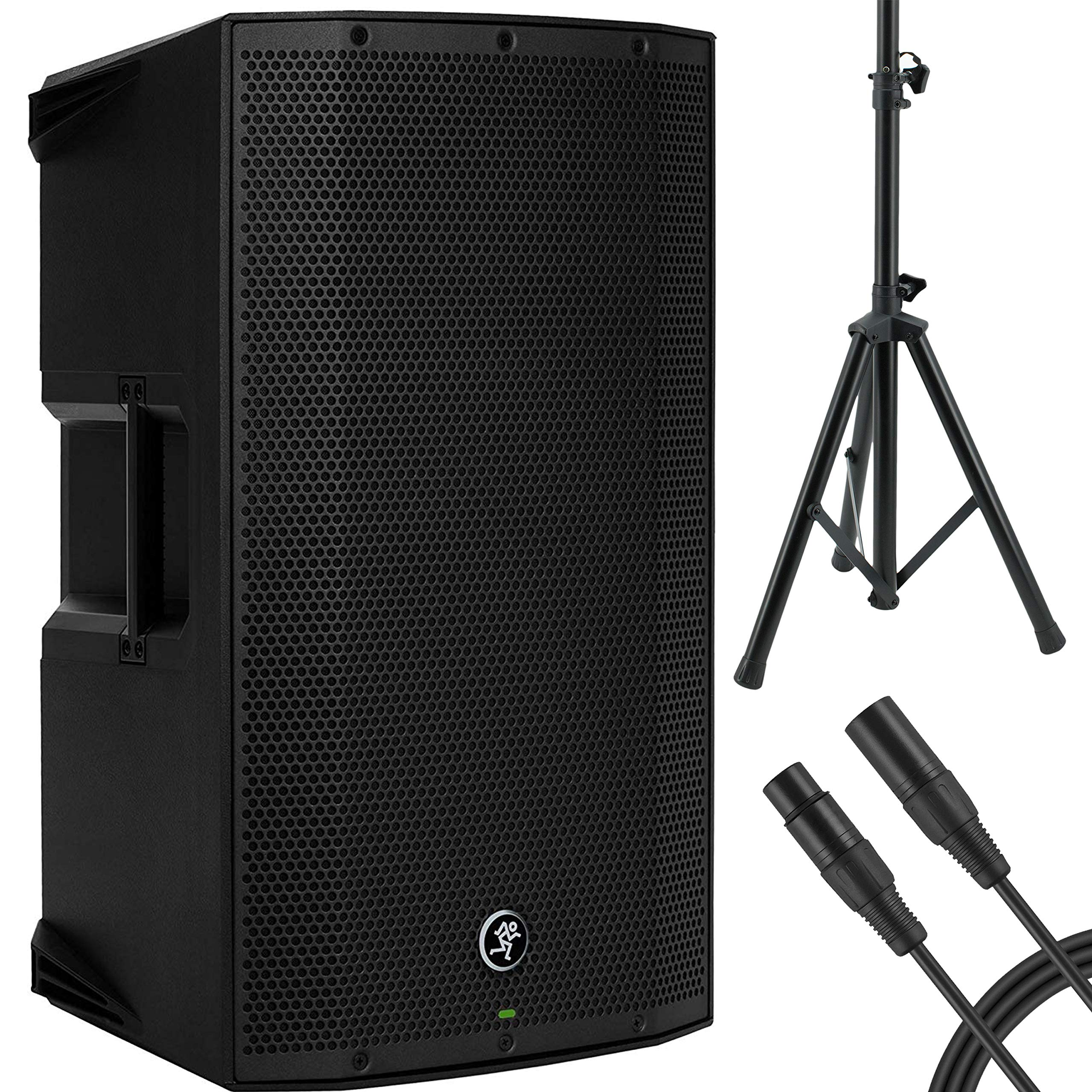 Mackie Thump12A - 1300W 12'' Powered Loudspeaker Bundle (Single) with Steel Speaker Stand and XLR-XLR Cable by Mackie