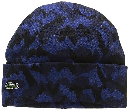 ef635e3888 Lacoste L!VE - Bonnet Homme - Bleu (Marine/Jazz) - Taille Unique ...