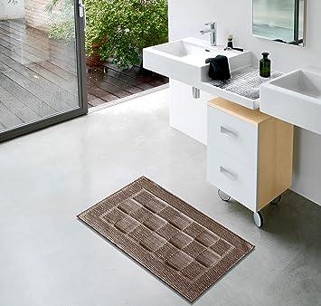 Keymura Tapis de bain/Tapis de bain en marron | pour salle ...