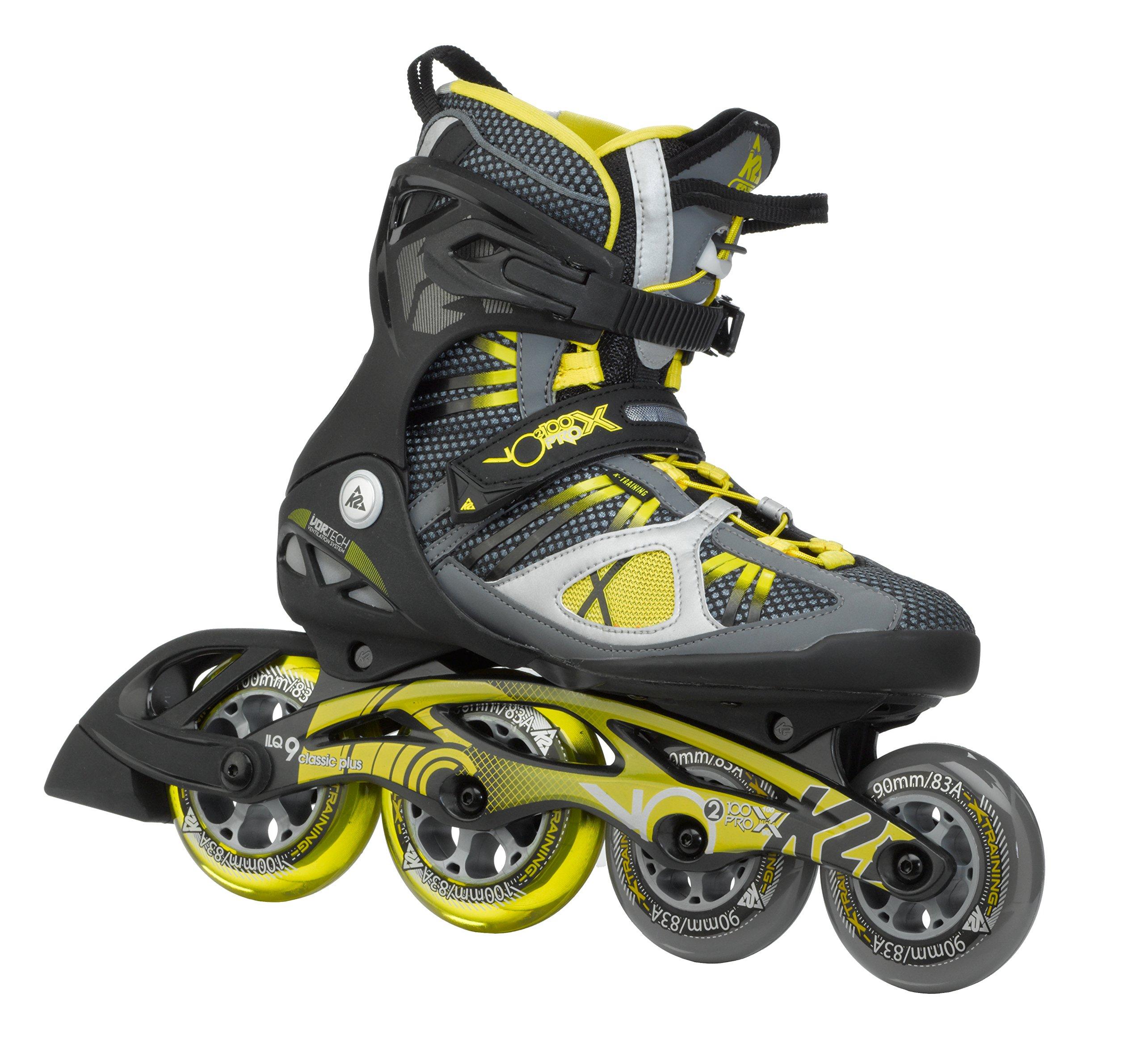K2 Skate Men's V02 100 X Pro Inline Skates, Black/Yellow, 5 by K2 Skate
