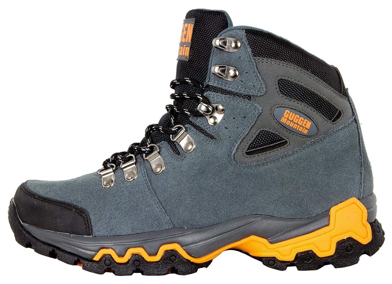 Scarpe da escursionismo Scarpe da trekking Scarpe da montagna Mountain Shoe genere neutro unisex uomo e donna GUGGEN MOUNTAIN M008, Marrone, EU 42
