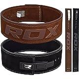 RDX Powerlifting Gewichthebergürtel Schnalle Rindsleder Bodybuilding Crossfit Fitness Trainingsgürtel Gym weightlifting Lever Belt Krafttraining