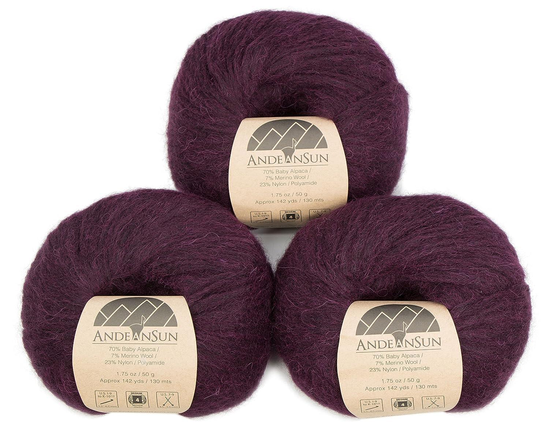 Amazon.com  Extra Soft Baby Alpaca Merino Wool Yarn Weight Category  4  Worsted 59f37b4947
