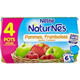 Nestlé Bébé Naturnes Pommes Framboises - Compote dès 6 Mois - 4 x 130g - Lot de 3
