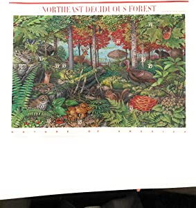 Northeast Deciduous Forest Pane of Ten 37 Cent Stamps Scott 3899 by USPS