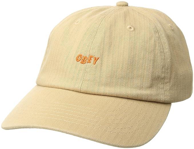 Obey Hombres 100580109 Gorra de béisbol - Beige - Talla única  Amazon.es   Ropa y accesorios 8769d744f19