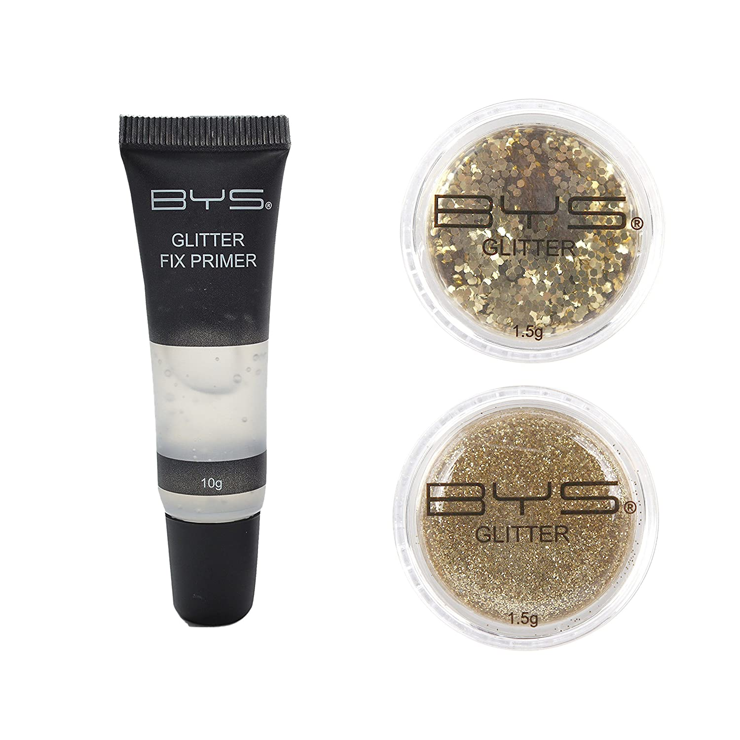 BYS Glitter Face and Body Kit with Primer - Gold