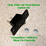 12001129 Aftermarket Replacement Jenn Air Cooktop / Stove Fan Switch - 2 Wires (Black)
