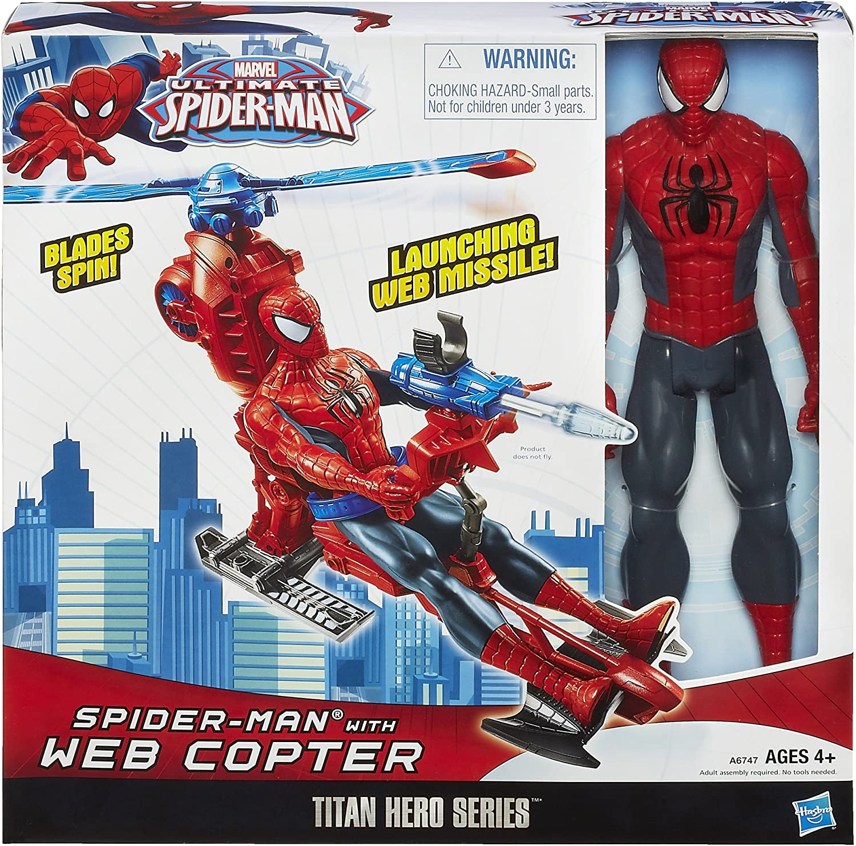 Marvel Ultimate Spider-Man Figure Titan Hero Series Includes Web Copter