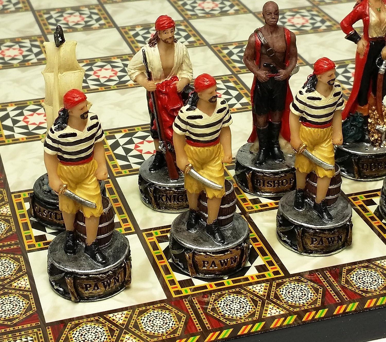 注目のブランド Pirates 14 vs Royal Navy Pirate Chess Set B076DRWD94 w/ Pirates 14 1/ 2