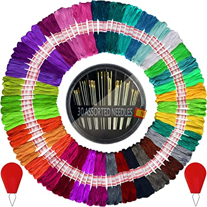 Embroidery Floss Set Embroidery Accessories Cross Stitch Floss 6 Skeins of 8 meters Embroidery Thread HM1015