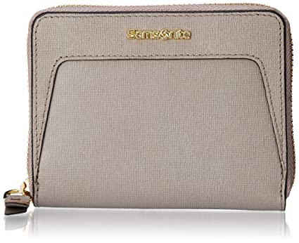 Samsonite Lady Saffiano II SLG Small Wallet Monedero, 12 cm, Warm Grey