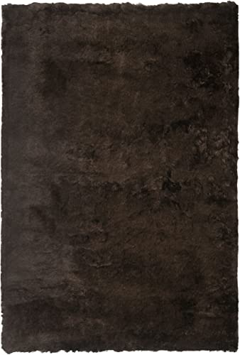Safavieh Paris Shag Collection SG511-2727 Chocolate Polyester Area Rug 2 x 3