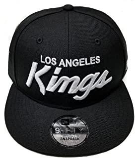 best cheap cdfdc b479d New Era Los Angeles Kings 9Fifty Black and White Vintage Script Rear Logo  N.W.A Adjustable Snapback