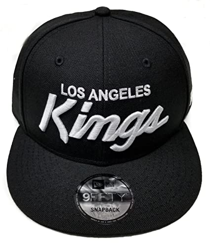 f1fccdeab9d New Era Los Angeles Kings 9Fifty Basic Black and White Vintage Script N.W.A  Adjustable Snapback Hat