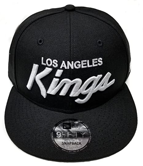 New Era Los Angeles Kings 9Fifty Basic Black and White Vintage Script N.W.A  Adjustable Snapback Hat 82062a5cc7ea