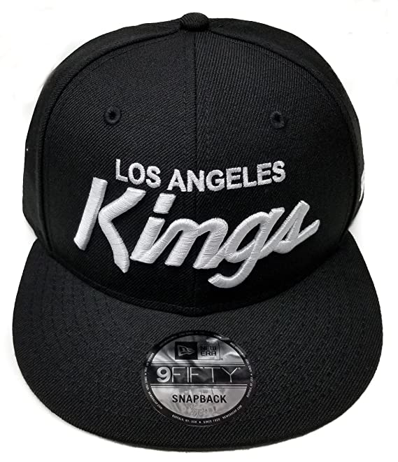 size 40 4a961 36b04 Amazon.com   New Era Los Angeles Kings 9Fifty Basic Black and White Vintage  Script N.W.A Adjustable Snapback Hat NHL   Clothing