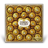 Ferrero Rocher Hazelnut Chocolates, Chocolate Gift Box, 24 Count, 10.6 oz