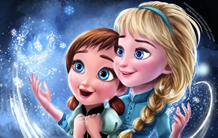Posterhouzz Movie Frozen Anna Elsa HD Wallpaper Background Fine Art Paper Print Poster MOV44
