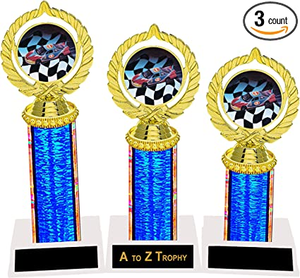 """9/"""" to 10/"""" Pinewood Derby Car Trophy Award Free shipping Free Engraving"""