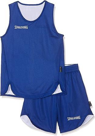 Spalding Doubleface Kids Set, Conjunto reversible camiseta y pantalones de baloncesto para Unisex-Niños: Amazon.es: Ropa y accesorios