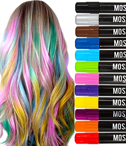 Amazon washable hair chalk pens set 12 including natural washable hair chalk pens set 12 including natural colors kit all hair temporary hair dye solutioingenieria Image collections